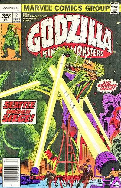 Cover for Godzilla (Marvel, 1977 series) #2 [35¢ Price Variant]