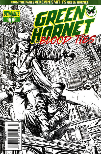 Cover for Green Hornet: Blood Ties (Dynamite Entertainment, 2010 series) #1 [Virgin Art RI]