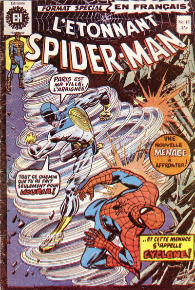 Cover for L'Étonnant Spider-Man (Editions Héritage, 1969 series) #45