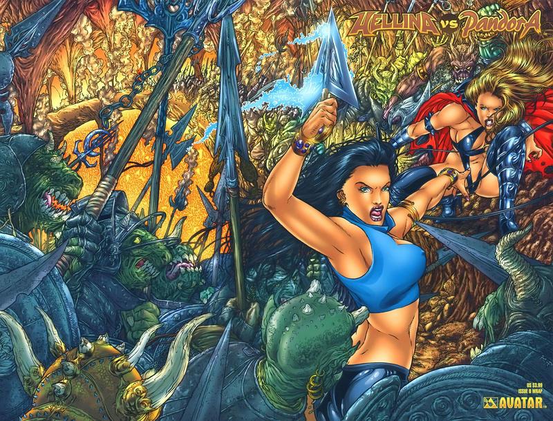 Cover for Hellina vs Pandora (Avatar Press, 2003 series) #0 [Bad Ass Babes]
