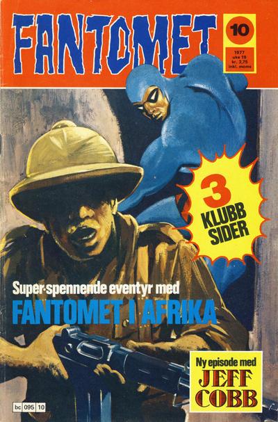 Cover for Fantomet (Semic, 1976 series) #10/1977