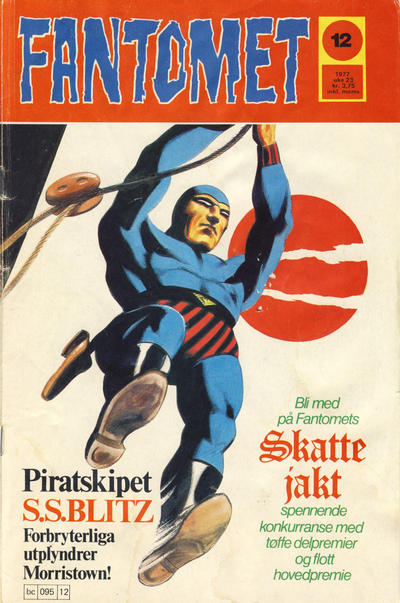 Cover for Fantomet (Semic, 1976 series) #12/1977