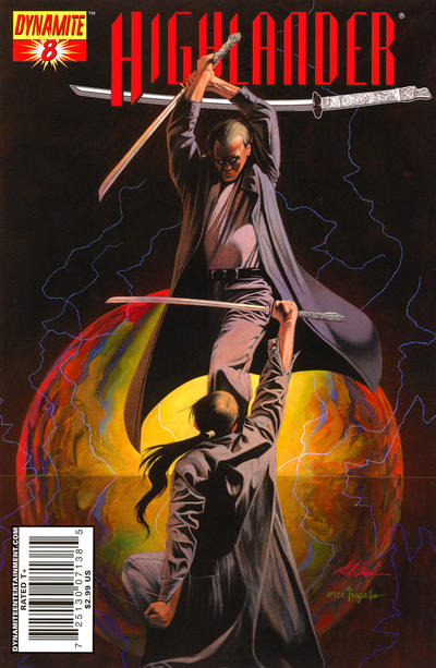Cover for Highlander (Dynamite Entertainment, 2006 series) #8 [Black-and-White Sketch Retailer Incentive Cover]