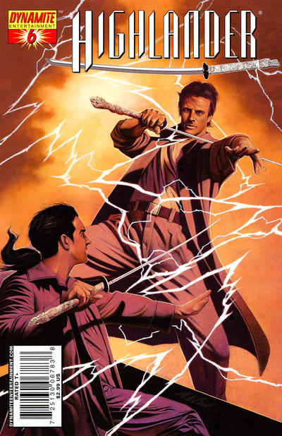 Cover for Highlander (Dynamite Entertainment, 2006 series) #6 [Michael Avon Oeming Cover]