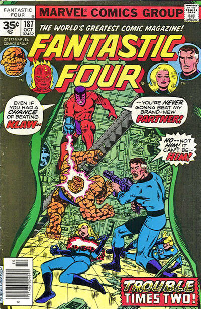 Cover for Fantastic Four (Marvel, 1961 series) #187 [30¢ Cover Price]