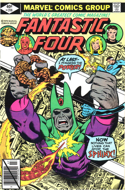 Cover for Fantastic Four (Marvel, 1961 series) #208 [Newsstand Edition]