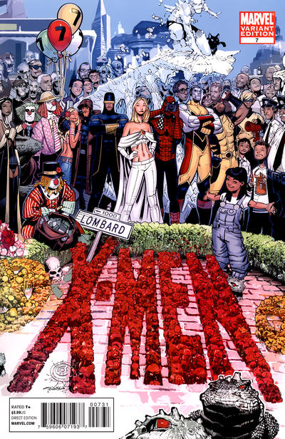 Cover for X-Men (Marvel, 2010 series) #7 [Variant Edition - Blank Cover]