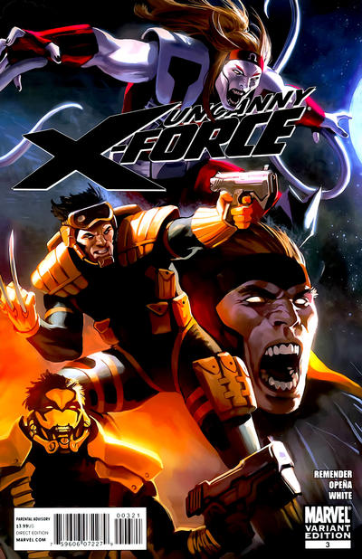 Cover for Uncanny X-Force (Marvel, 2010 series) #3