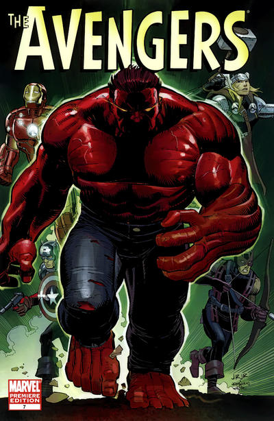 Cover for Avengers (Marvel, 2010 series) #7 [Blank Cover Variant]