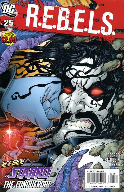 Cover for R.E.B.E.L.S. (DC, 2009 series) #25