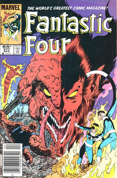 Cover for Fantastic Four (Marvel, 1961 series) #277 [Newsstand Edition]