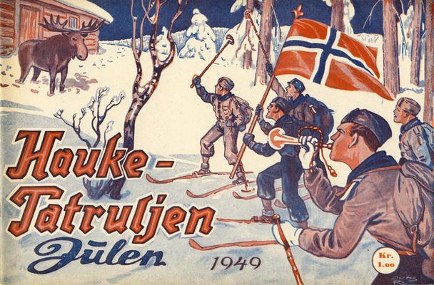 Cover for Haukepatruljen; Haukepatruljens revy (Ukemagasinet, 1937 series) #1949