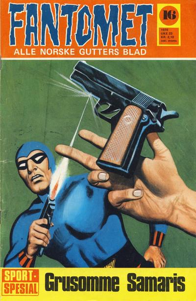 Cover for Fantomet (Romanforlaget, 1966 series) #16/1970
