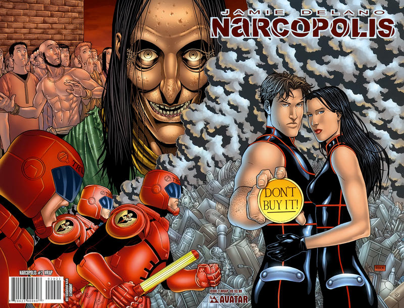 Cover for Jamie Delano's Narcopolis (Avatar Press, 2008 series) #2