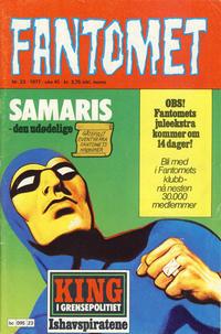 Cover Thumbnail for Fantomet (Semic, 1976 series) #23/1977