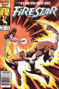 Cover Thumbnail for Firestar (Marvel, 1986 series) #2 [Newsstand Edition]