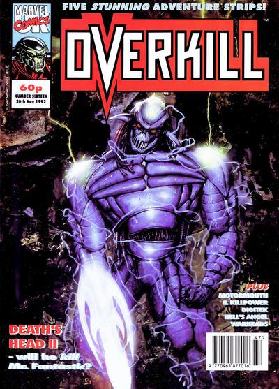 Cover for Overkill (Marvel UK, 1992 series) #16