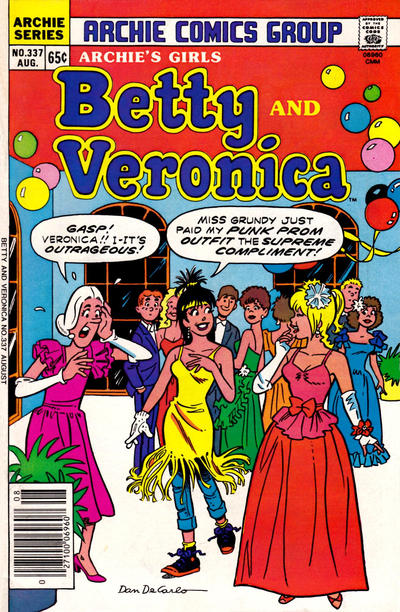 Cover for Archie's Girls Betty and Veronica (Archie, 1950 series) #337