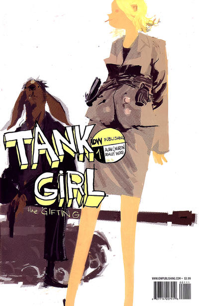 Cover for Tank Girl: The Gifting (IDW, 2007 series) #1 [Cover A]