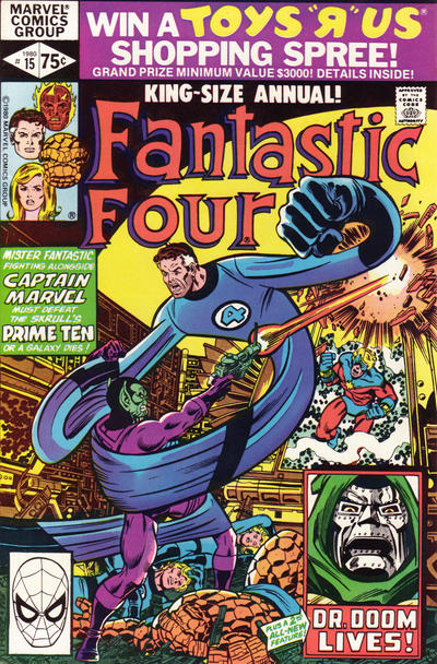 Cover for Fantastic Four Annual (Marvel, 1963 series) #15 [Direct Edition]