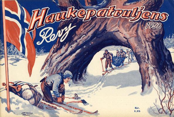 Cover for Haukepatruljen; Haukepatruljens revy (Ukemagasinet, 1937 series) #1953