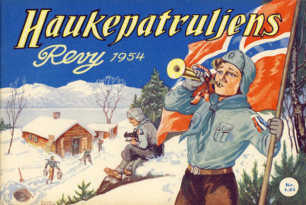 Cover for Haukepatruljen; Haukepatruljens revy (Ukemagasinet, 1937 series) #1954