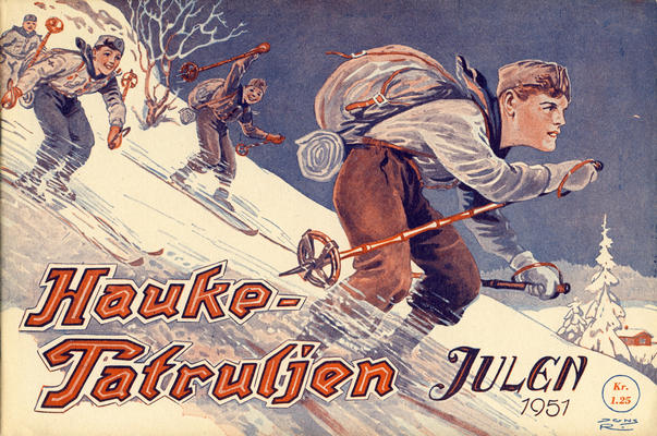Cover for Haukepatruljen; Haukepatruljens revy (Ukemagasinet, 1937 series) #1951