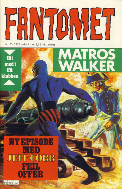 Cover for Fantomet (Semic, 1976 series) #2/1978