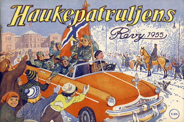 Cover for Haukepatruljen; Haukepatruljens revy (Ukemagasinet, 1937 series) #1955