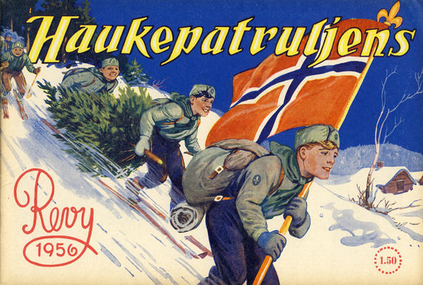 Cover for Haukepatruljen; Haukepatruljens revy (Ukemagasinet, 1937 series) #1956
