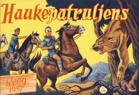 Cover for Haukepatruljen; Haukepatruljens revy (Ukemagasinet, 1937 series) #1957