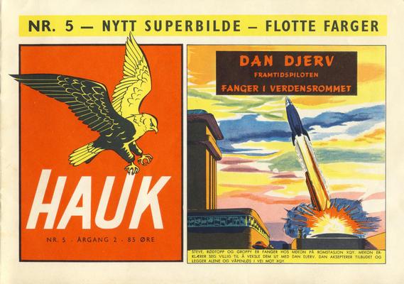 Cover for Hauk (Serieforlaget / Se-Bladene / Stabenfeldt, 1955 series) #5/1956