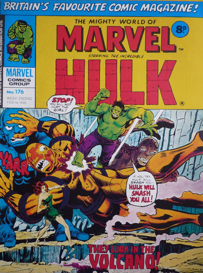 Cover for The Mighty World of Marvel (Marvel UK, 1972 series) #176