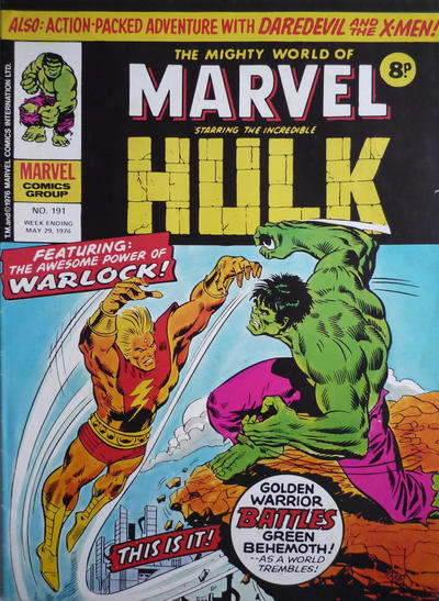 Cover for The Mighty World of Marvel (Marvel UK, 1972 series) #191