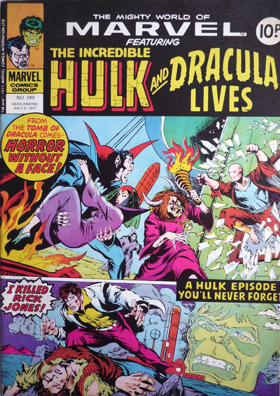 Cover for The Mighty World of Marvel (Marvel UK, 1972 series) #249