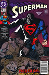 Cover for Superman (DC, 1987 series) #56 [Newsstand]