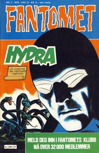 Cover Thumbnail for Fantomet (Semic, 1976 series) #7/1978