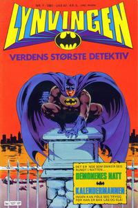 Cover Thumbnail for Lynvingen (Semic, 1977 series) #7/1981
