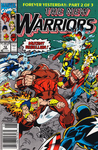 Cover Thumbnail for The New Warriors (Marvel, 1990 series) #12 [Newsstand]