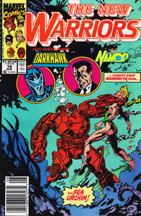 Cover Thumbnail for The New Warriors (Marvel, 1990 series) #14 [Newsstand]