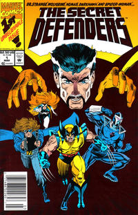 Cover Thumbnail for The Secret Defenders (Marvel, 1993 series) #1 [Newsstand]