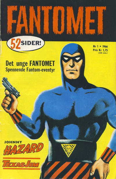 Cover for Fantomet (Romanforlaget, 1966 series) #1/1966