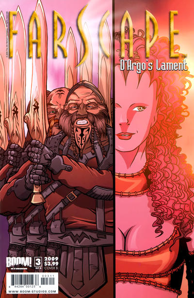 Cover for Farscape: D'Argo's Lament (Boom! Studios, 2009 series) #3 [Cover C - Challenger Exclusive]
