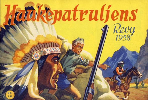 Cover for Haukepatruljen; Haukepatruljens revy (Ukemagasinet, 1937 series) #1958