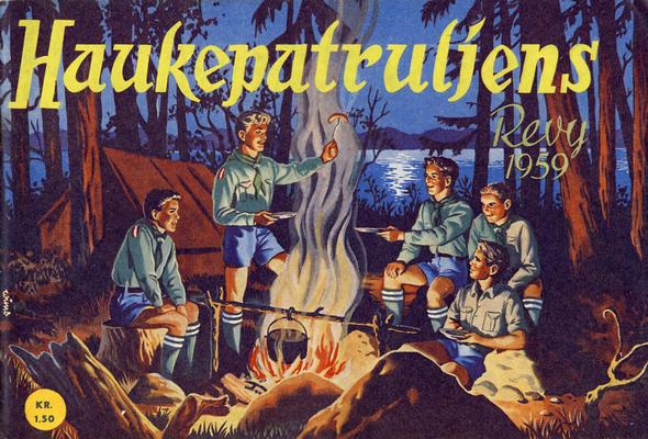 Cover for Haukepatruljen; Haukepatruljens revy (Ukemagasinet, 1937 series) #1959