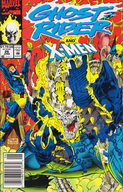 Cover for Ghost Rider (Marvel, 1990 series) #26 [Newsstand Edition]