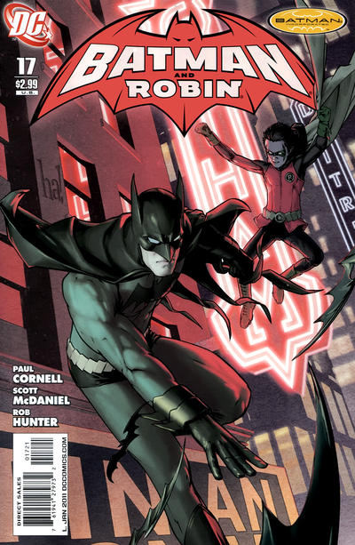 Cover for Batman and Robin (DC, 2009 series) #17