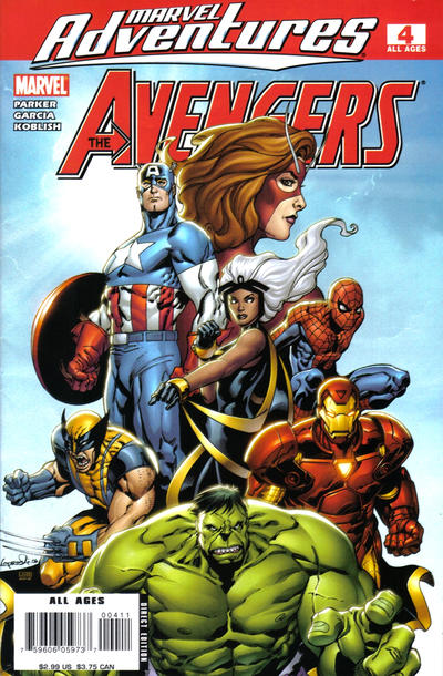 Cover for Marvel Adventures The Avengers (Marvel, 2006 series) #4 [Direct Edition]