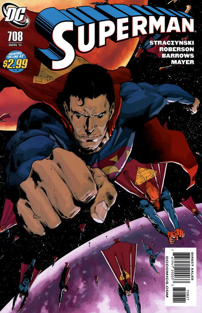 Cover for Superman (DC, 2006 series) #708 [10 for 1 Variant]