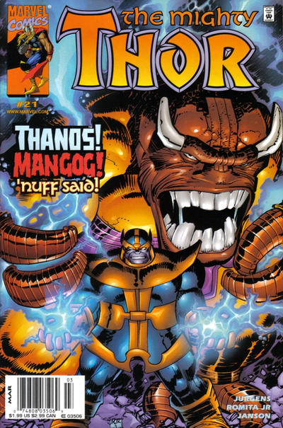 Cover for Thor (Marvel, 1998 series) #21 [Newsstand Edition]